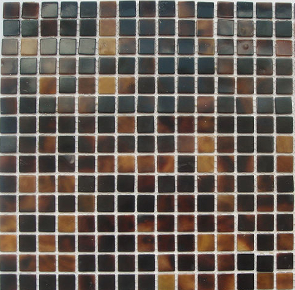"Brown Tab, Pen Shell Natural Shell Mosaic Sheet 15mm - 3/8"", 1 tile"